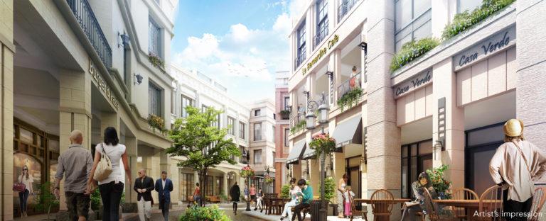 Shophouse District Perspective