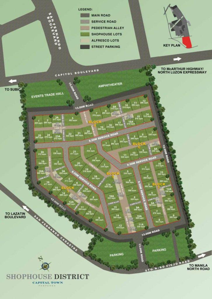 Shophouse District Site Map