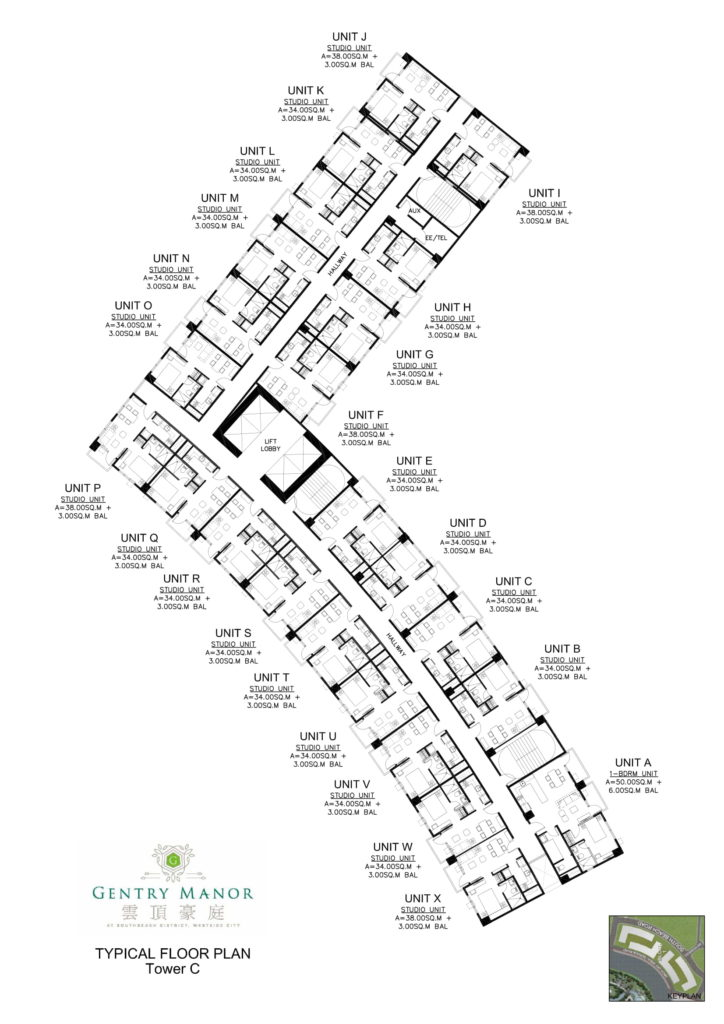 Gentry Manor Tower C Floor Plan