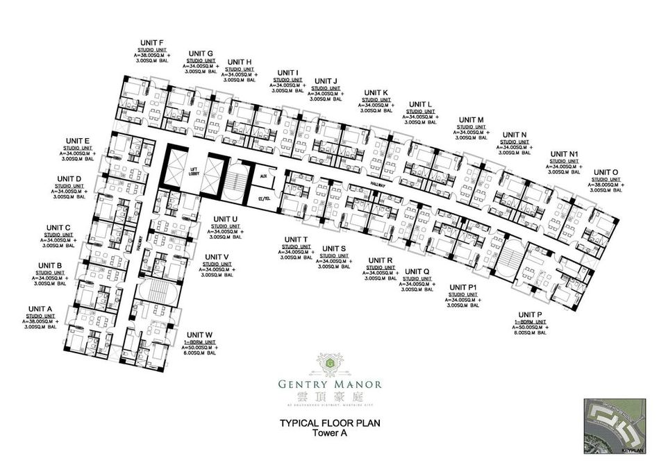 Gentry Manor Tower A Floor Plan