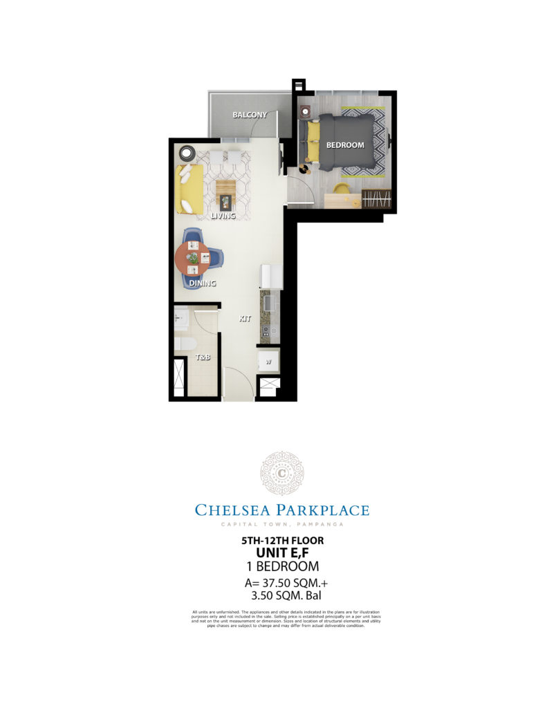 Chelsea Parkplace 1 Bedroom Unit 5th-12th