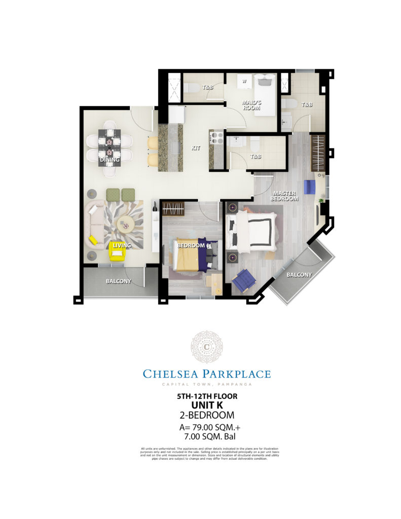 Chelsea Parkplace 2 Bedroom Unit 86 SQM