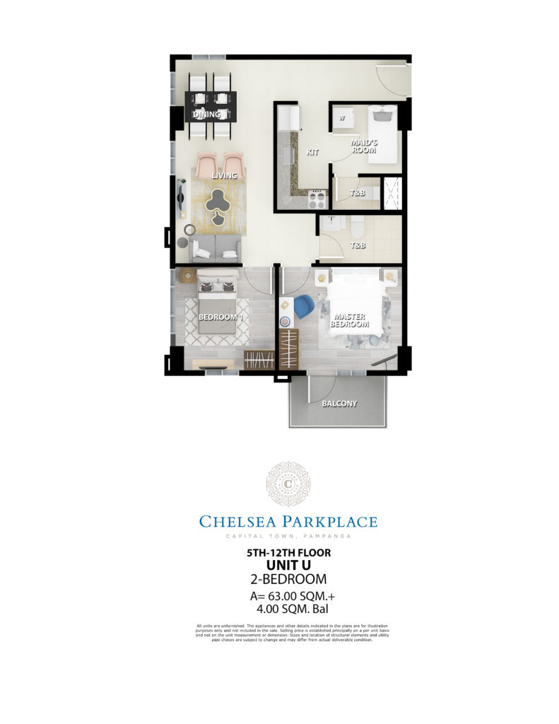 Chelsea Parkplace 2 Bedroom Unit 67 SQM