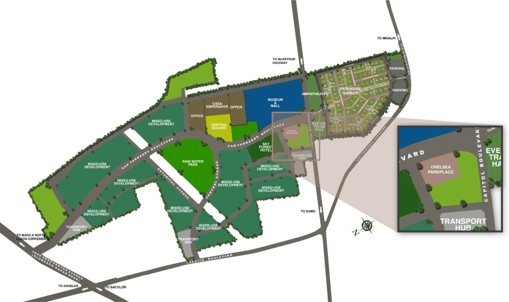 Chelsea Parkplace Location Map
