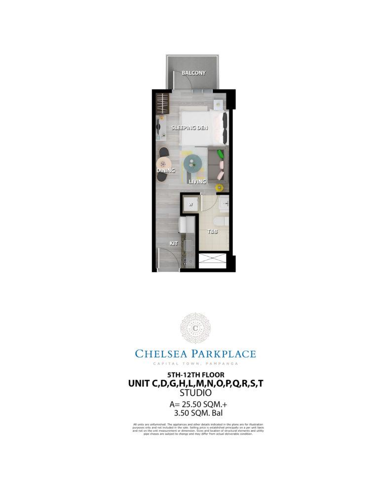 Chelsea Parkplace Studio Unit 5th-12th