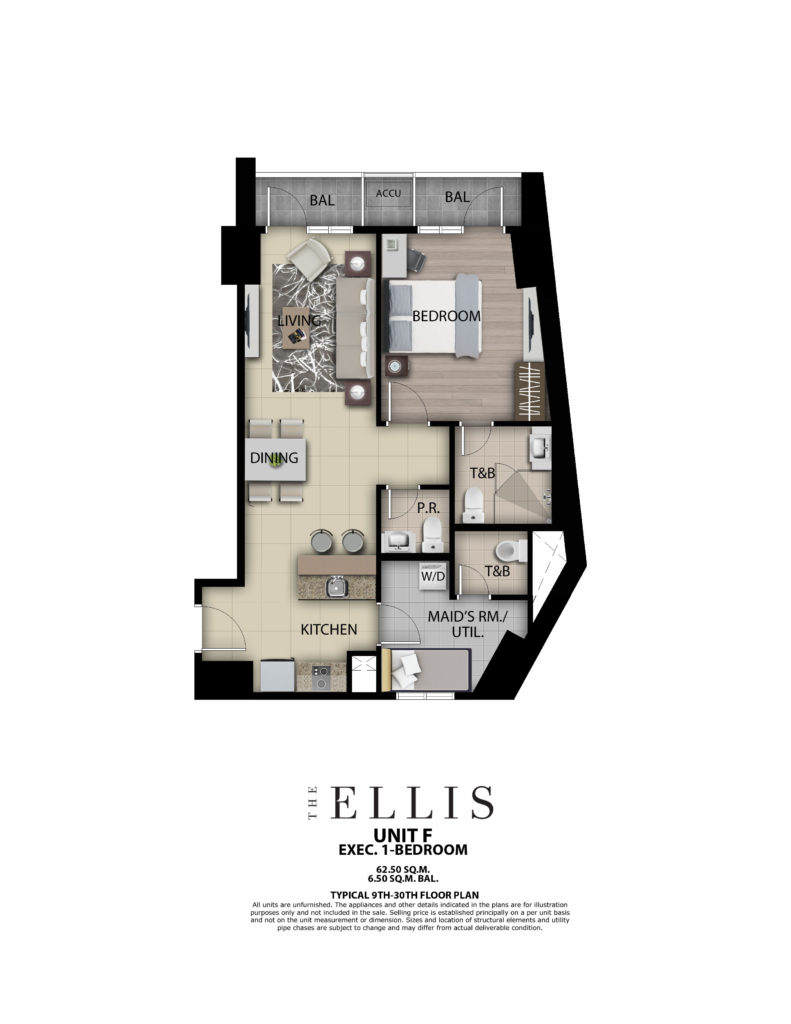 The Ellis 1BR 69 SQM w/ Balcony