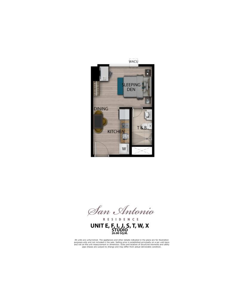 San Antonio Residence Studio 26 sqm