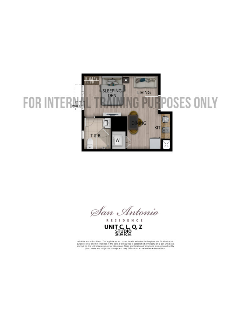 San Antonio Residence Studio 28.5 sqm