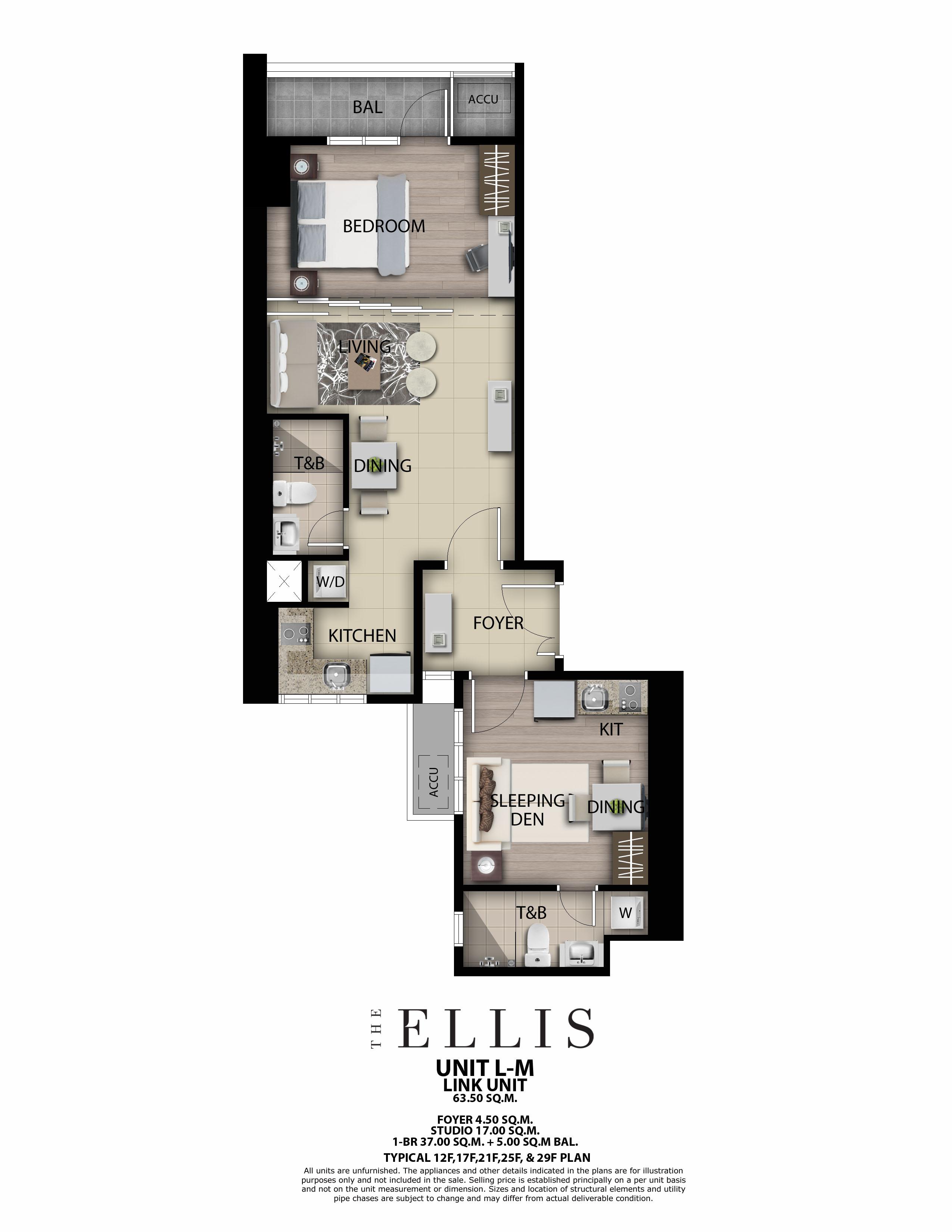 The Ellis 1BR Link unit 63.5 SQM w/ Balcony