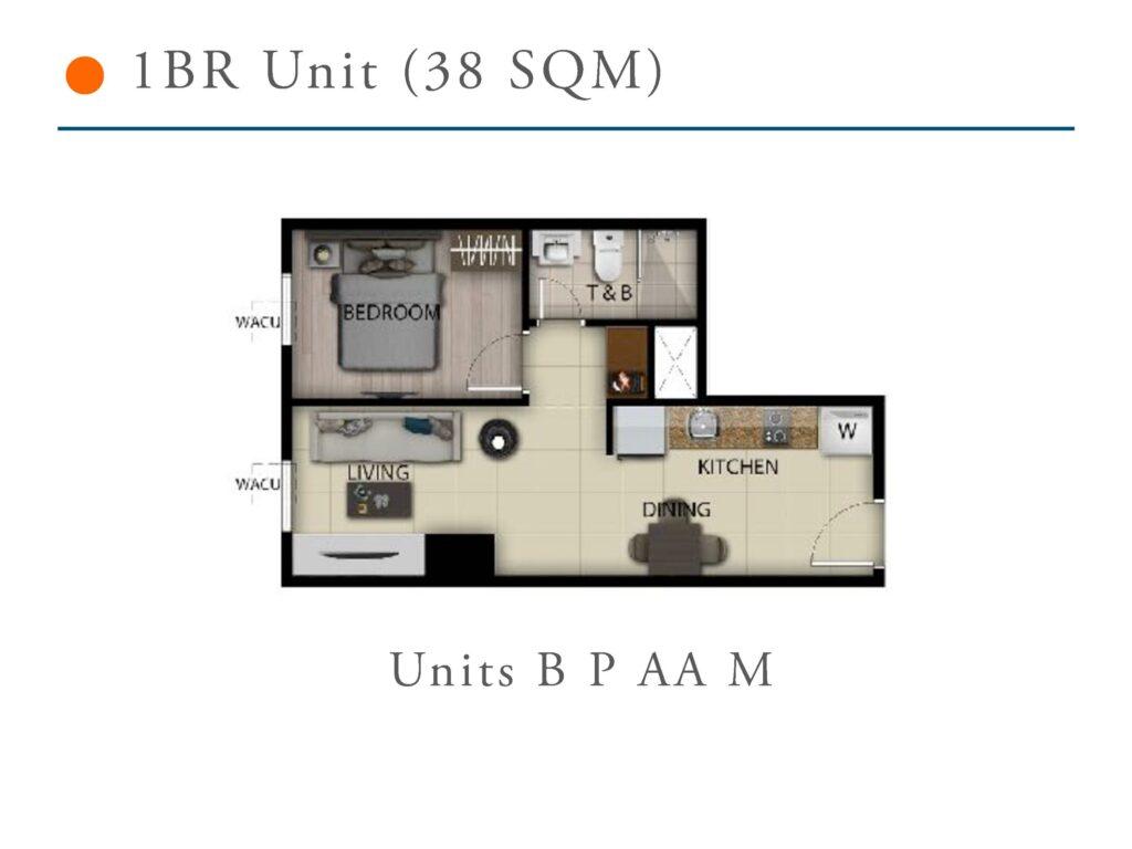 San Antonio Residence 1 Bedroom 38 SQM