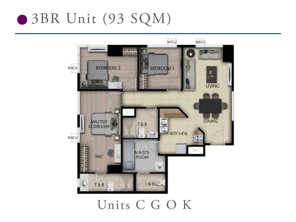 San Antonio Residence 3 Bedroom 93 SQM