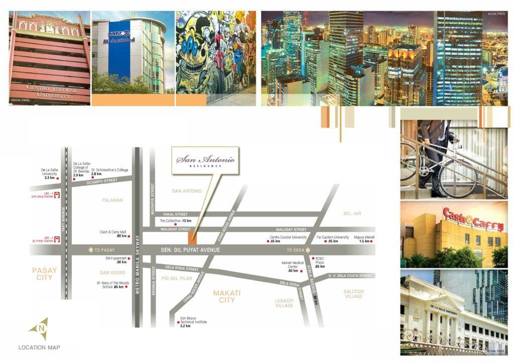 San Antonio Residence Location Map