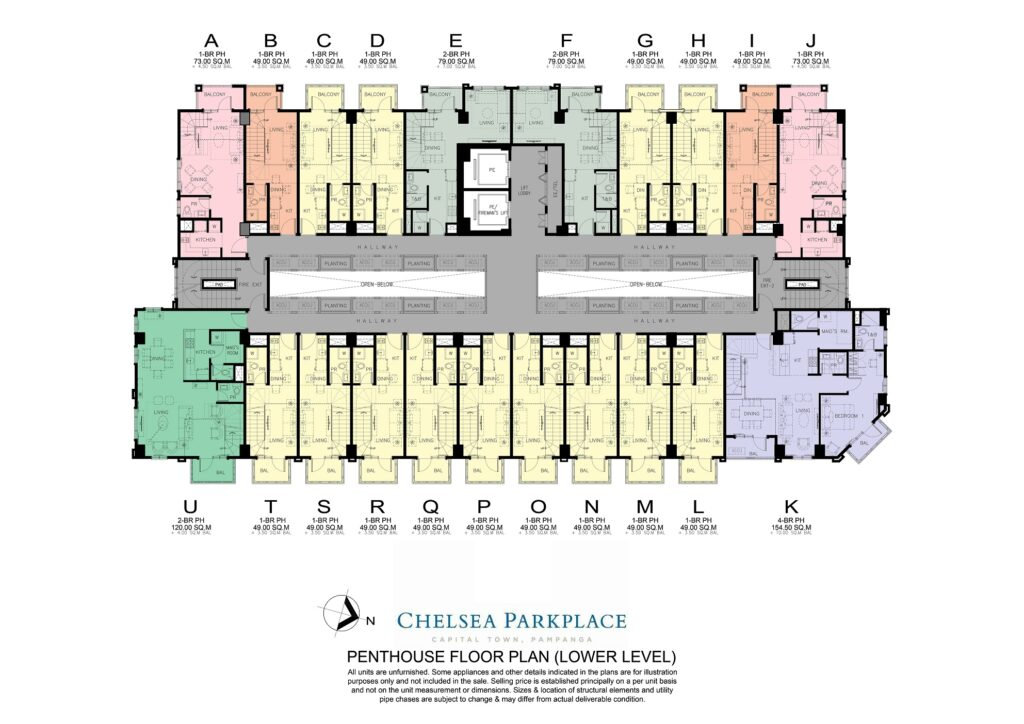 Chelsea Parkplace Penthouse Floor Plan (Lower Level)