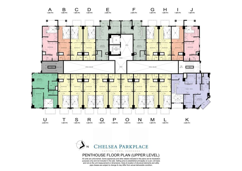 Chelsea Parkplace Penthouse Floor Plan (Upper Level)