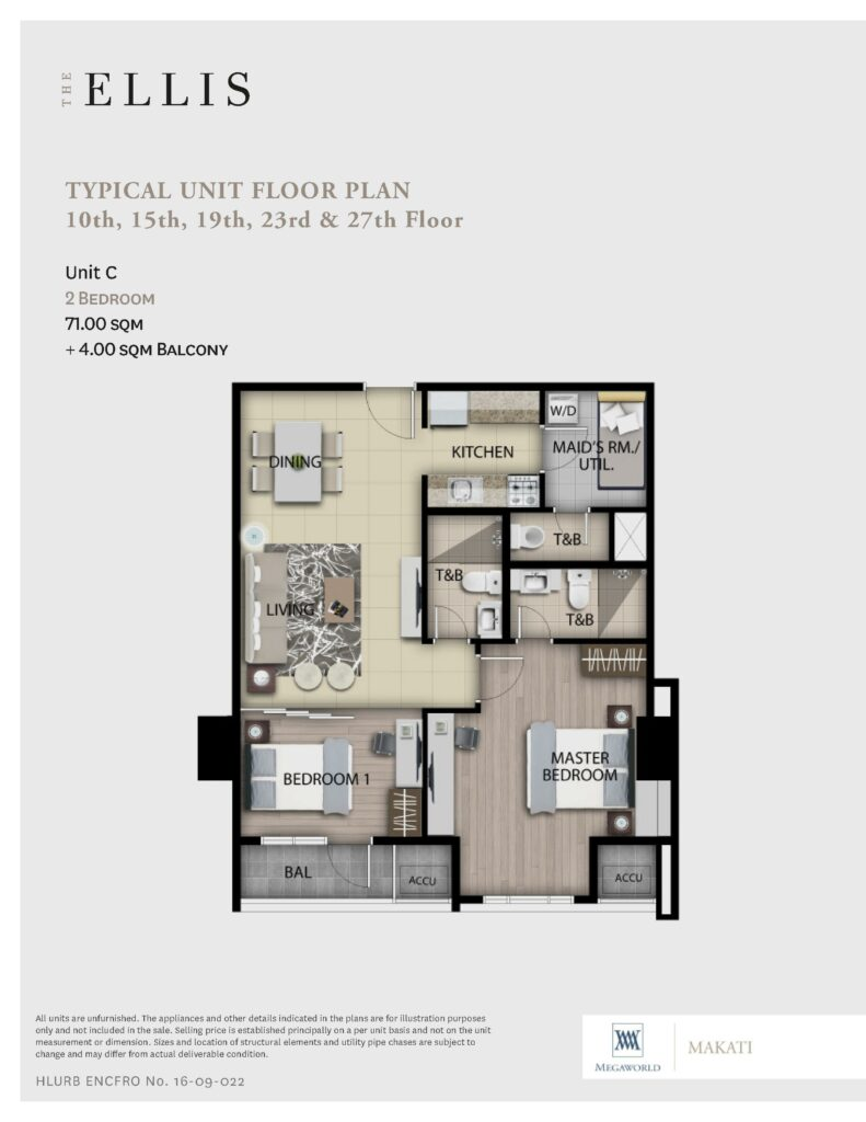 The Ellis 2 Bedroom - 75 SQM