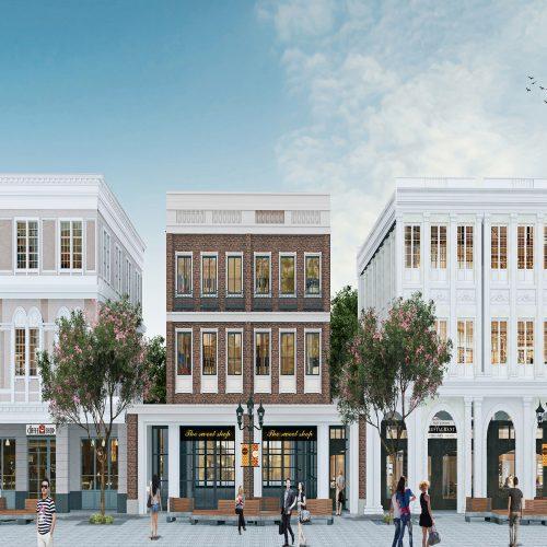 Shophouse District Facade