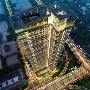 Vion Tower Facade with Location